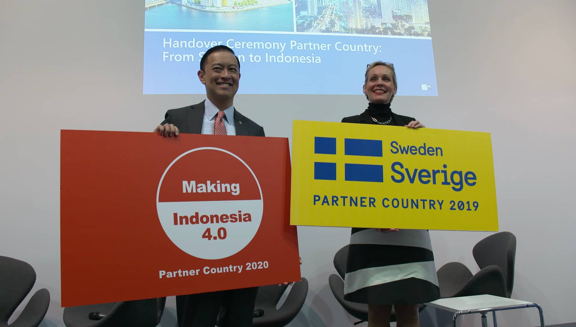 Hannover Messe 2019 - Handover Ceremony Partner Country: From Sweden to Indonesia
